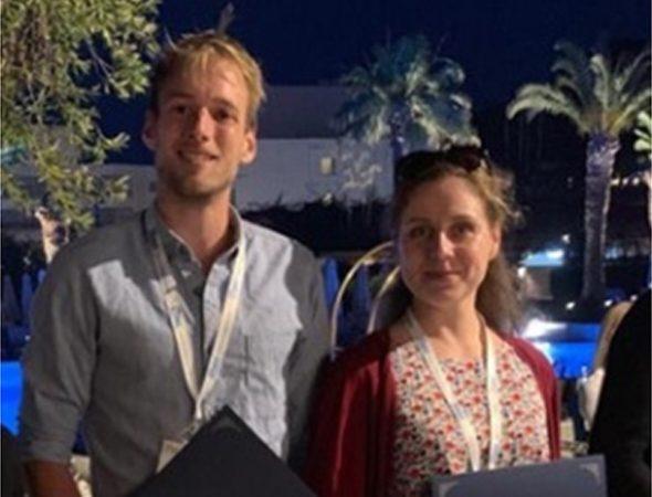 Sebastian Kollmann and Anna Orlova receive the Agean conference Travel Award